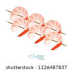 shrimps on a skewer ... | Shutterstock . vector #1126487837