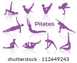 Pilates Poses In Violet...