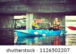kayaking and canoeing with...   Shutterstock . vector #1126502207