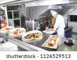 the distribution table in the... | Shutterstock . vector #1126529513