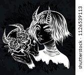 vector illustration. demon.... | Shutterstock .eps vector #1126539113