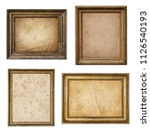 old parchment paper in vintage... | Shutterstock . vector #1126540193