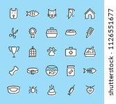 pet logo design template set.... | Shutterstock .eps vector #1126551677