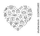 pet logo design template set.... | Shutterstock .eps vector #1126551683