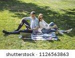 lovely university students... | Shutterstock . vector #1126563863