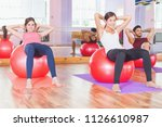 fitness ball. group people...   Shutterstock . vector #1126610987