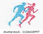 abstract silhouette running man ... | Shutterstock .eps vector #1126618997