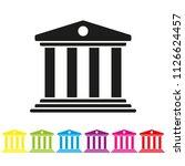 court house glyph icon vector....   Shutterstock .eps vector #1126624457