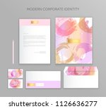 corporate identity business set.... | Shutterstock .eps vector #1126636277