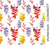 trendy simple floral pattern.... | Shutterstock . vector #1126638377
