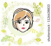 beautiful women face  human... | Shutterstock .eps vector #1126638833