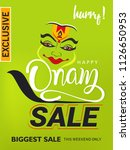 happy onam sale background... | Shutterstock .eps vector #1126650953