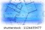 architecture design  blueprint... | Shutterstock .eps vector #1126655477