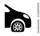 vector car tyre repair shop  ... | Shutterstock .eps vector #1126659203