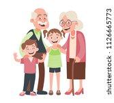 grandparents  granddraughter... | Shutterstock .eps vector #1126665773