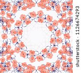 unusual scarf floral print.... | Shutterstock .eps vector #1126674293
