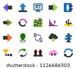 colored vector icon set  ... | Shutterstock .eps vector #1126686503