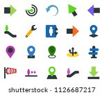 colored vector icon set  ... | Shutterstock .eps vector #1126687217