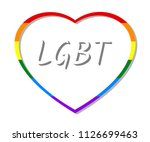 rainbow heart frame and lgbt... | Shutterstock .eps vector #1126699463