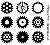 set of gear wheels | Shutterstock .eps vector #112670327