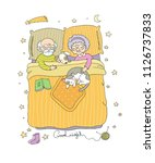 grandfather and grandmother... | Shutterstock .eps vector #1126737833