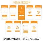 modern mobile app ui  ux...