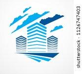 business building  modern... | Shutterstock .eps vector #1126747403