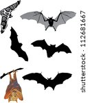 illustration with bat... | Shutterstock . vector #112681667