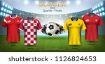 football cup 2018 world... | Shutterstock .eps vector #1126824653