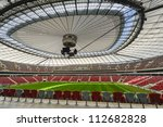 WARSAW, POLAND - SEPTEMBER 05: Warsaw National Stadium on September 05, 2012. The National Stadium hosted the opening match of the UEFA Euro 2012. - stock photo