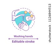 washing hands concept icon....   Shutterstock .eps vector #1126844513