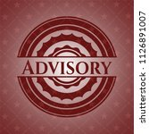 advisory red emblem. vintage. | Shutterstock .eps vector #1126891007
