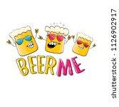 beer me vector concept...   Shutterstock .eps vector #1126902917