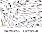 golf tees in a pile sport background - stock photo