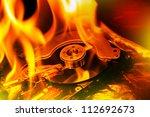 hard disk failure. computer... | Shutterstock . vector #112692673
