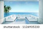 relaxing summer beach  ... | Shutterstock . vector #1126935233
