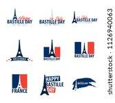 set of happy bastille day...   Shutterstock .eps vector #1126940063