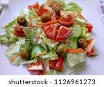 tasty vegetable salad   Shutterstock . vector #1126961273