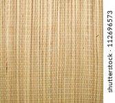 Close Up Of A Straw Mat As A...
