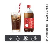 highly sweet and energy drinks. ... | Shutterstock .eps vector #1126967567