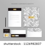 corporate identity business set.... | Shutterstock .eps vector #1126982837