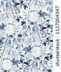 seamless watercolor pattern... | Shutterstock . vector #1127004347