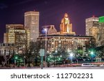 providence on a cold december evening - stock photo
