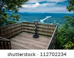 lake lure overlook - stock photo