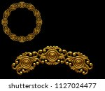 golden ornamental segment  ... | Shutterstock . vector #1127024477