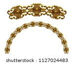 golden ornamental segment  ... | Shutterstock . vector #1127024483