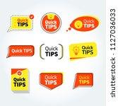 quick tips  helpful tricks...   Shutterstock .eps vector #1127036033