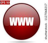 www cherry red glossy round web ...   Shutterstock .eps vector #1127068217