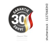 30 years warranty  german   50... | Shutterstock .eps vector #1127068343
