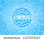 facility sky blue emblem with...   Shutterstock .eps vector #1127073167